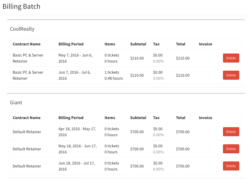 Creating A Monthly BillingInvoice Batch  Atera Support